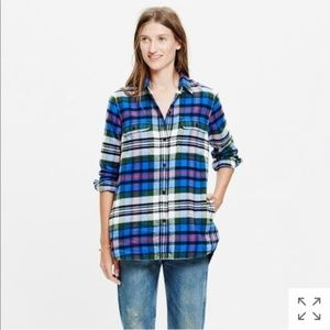 Madewell Flannel Ex-Boyfriend Shirt Larchmont